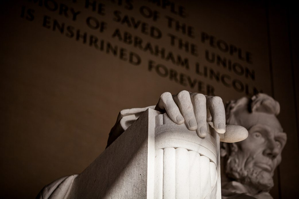 Close Up of Abraham Lincoln's hands